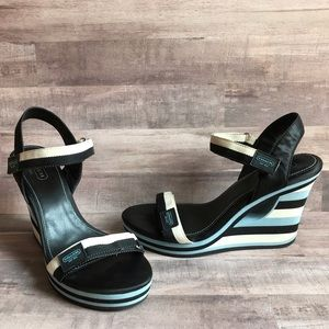 Coach Mylar Platform Wedge Sandals